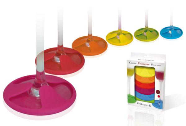 Vin Bouquet Сет силиконови подложки за чаши - 6 бр.